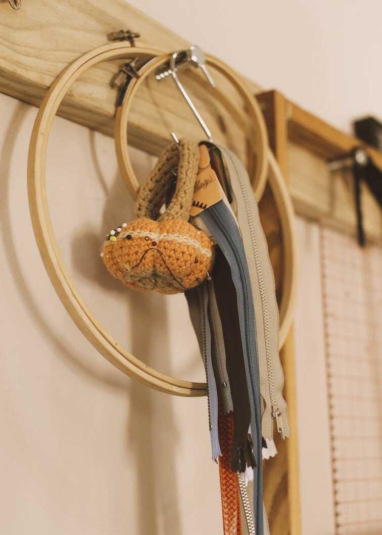 Knitting tools.