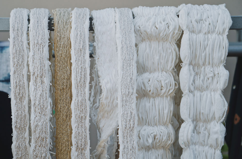 Fabric prepared and ready to be dyed